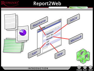 Screenshot for Redwood Software's Report2Web demo